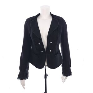Free People Black Womens Size 6 Long Sleeve Jacket